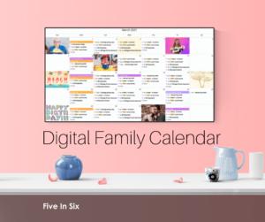 DIY Digital Family Wall Calendar