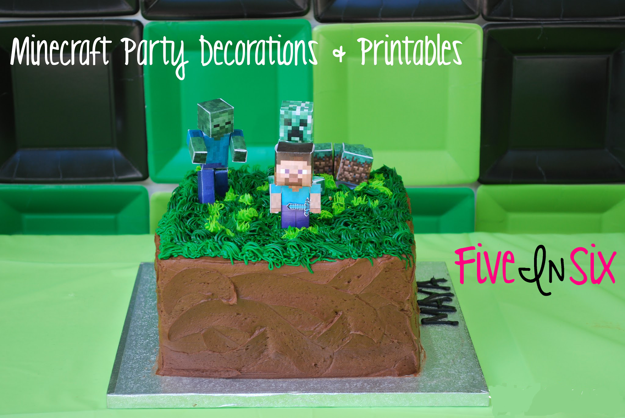 photograph about Minecraft Party Ideas Printable named Minecraft Bash Components and Directions